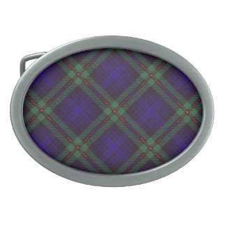 Tartán del escocés de Mackinlay Hebilla Cinturon Oval