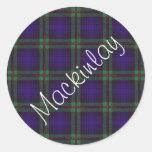 Tartán del escocés de Mackinlay Pegatina Redonda