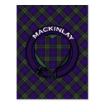 Tartán del escocés de Mackinlay Postal