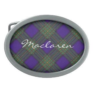 Tartán del escocés de Maclaren Hebillas De Cinturón