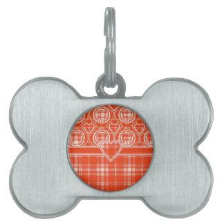 Tartán del escocés de Menzies Placa De Nombre De Mascota