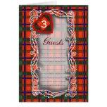Tartán del escocés de Munro Felicitaciones