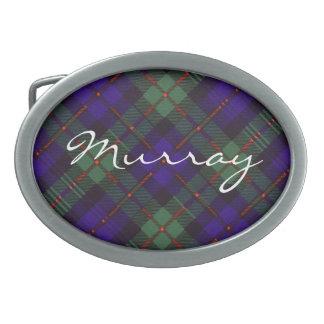 Tartán del escocés de Murray Hebilla Cinturón Oval