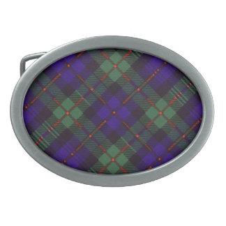 Tartán del escocés de Murray Hebillas Cinturon Ovales