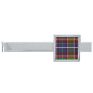 Tartán del escocés de Norvel Alfiler De Corbata Plateado