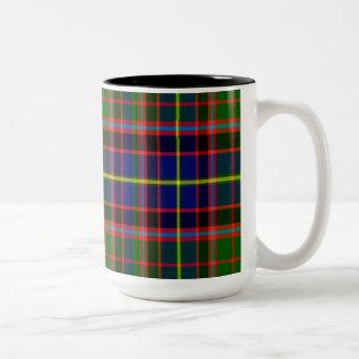 Tartán del escocés de Norvel Taza De Dos Tonos