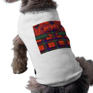 Tartán del escocés de Robertson Ropa Perro