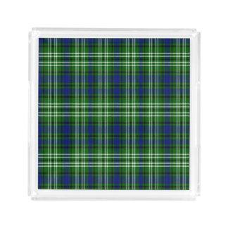 Tartán del escocés de Spottiswood Bandeja Cuadrada