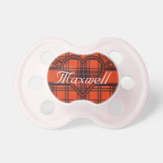 Tartán del escocés del maxwell chupetes de bebé