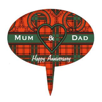 Tartán del escocés del maxwell decoración para tarta
