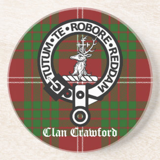 Tartán del escudo de Crawford del clan Posavaso Para Bebida