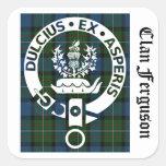 Tartán del escudo de Ferguson del clan Pegatinas Cuadradas Personalizadas