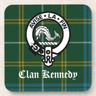 Tartán del escudo de Kennedy del clan Posavasos De Bebidas