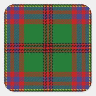 Tartán del modelo del tartán de los Celts Pegatina Cuadrada