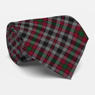Tartán del monograma de la letra B de Borthwick Corbatas Personalizadas