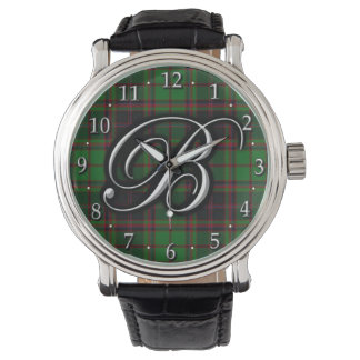Tartán del monograma de la letra B de Buchan del Reloj