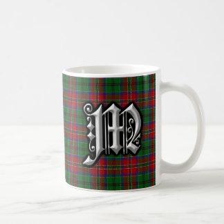 Tartán del monograma de la letra M de MacCulloch Taza De Café