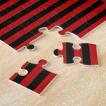 Tartán del monograma, rojo y Negro-Letra A Rompecabezas