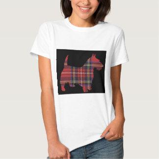 Tartán del perro del escocés remera