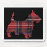 Tartán del perro del escocés tapete de raton