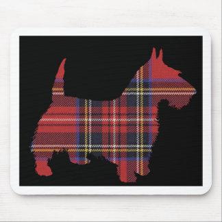 Tartán del perro del escocés tapetes de ratones