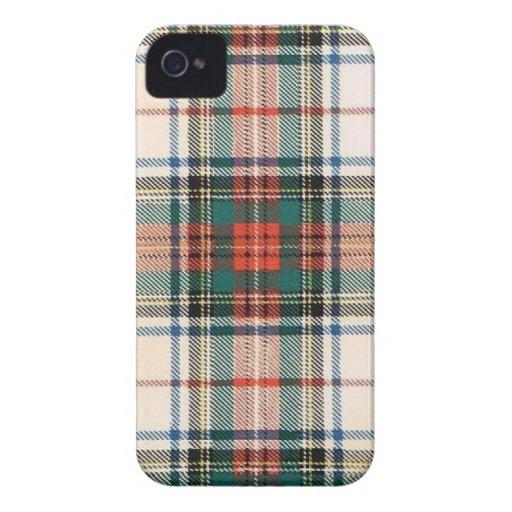TARTÁN DEL VESTIDO DE LA FAMILIA DE STEWART Case-Mate iPhone 4 CÁRCASA