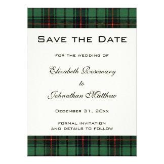 Tartán del vintage boda moderno del modelo de Dav Invitaciones Personales