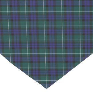 Tartán diagonal del distrito de Menteith Escocia Camino De Mesa Largo