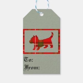 Tartan Doggie Gift Tags