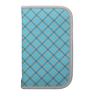 Tartán elegante del azul de la aguamarina planificador