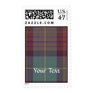 Tartán escocés antiguo sellos postales
