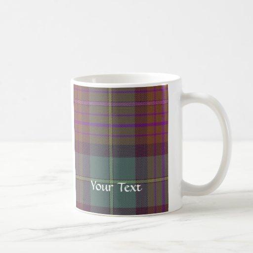 Tartán escocés antiguo tazas