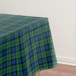 Tartán escocés azul de Dundas del clan y verde Mantel De Tela