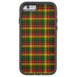 Tartán escocés buchanan amarillo verde rojo de la funda de iPhone 6 tough xtreme