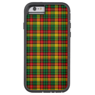 Tartán escocés buchanan amarillo verde rojo de la funda de iPhone 6 tough xtreme