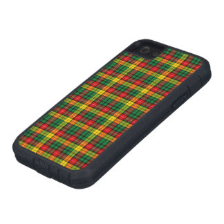 Tartán escocés buchanan amarillo verde rojo de la iPhone 5 carcasa