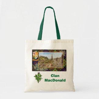 Tartán escocés, clan MacDonald Bolsas