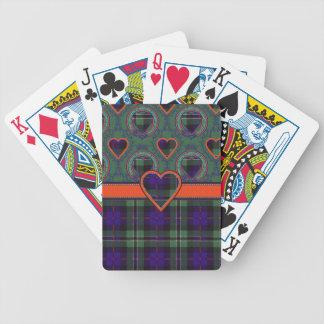Tartán escocés color de rosa del clan - tela escoc baraja cartas de poker
