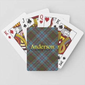Tartán escocés de Anderson del clan Cartas De Póquer
