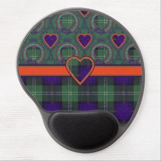Tartán escocés de la falda escocesa de la tela alfombrilla con gel