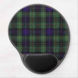Tartán escocés de la falda escocesa de la tela alfombrillas con gel