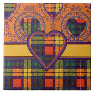 Tartán escocés de la falda escocesa de la tela azulejo cuadrado grande