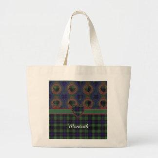 Tartán escocés de la falda escocesa de la tela bolsa tela grande