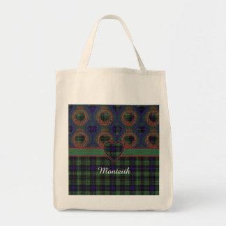 Tartán escocés de la falda escocesa de la tela bolsa tela para la compra