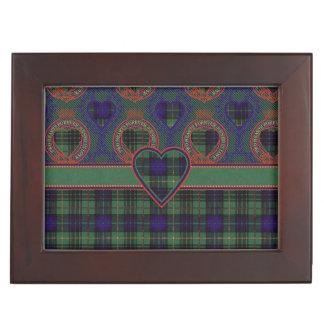 Tartán escocés de la falda escocesa de la tela cajas de recuerdos