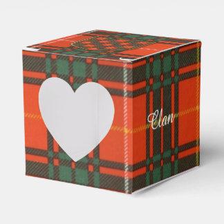 Tartán escocés de la falda escocesa de la tela cajas para regalos de fiestas