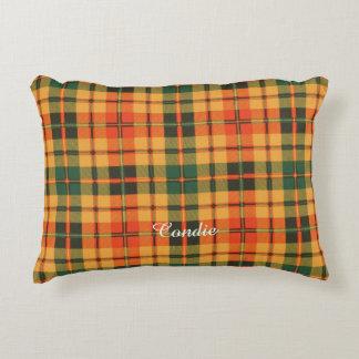 Tartán escocés de la falda escocesa de la tela cojín