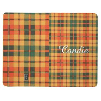 Tartán escocés de la falda escocesa de la tela cuaderno grapado