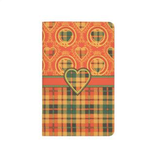 Tartán escocés de la falda escocesa de la tela cuadernos