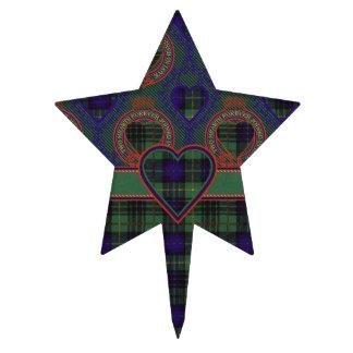 Tartán escocés de la falda escocesa de la tela decoraciones para tartas